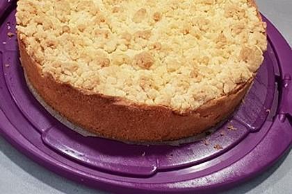 Leichter Apfelkuchen mit Vanillepudding und Streuseln 30