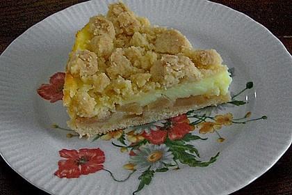 Leichter Apfelkuchen mit Vanillepudding und Streuseln 9