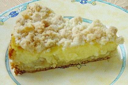 Leichter Apfelkuchen mit Vanillepudding und Streuseln 42