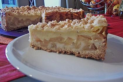 Leichter Apfelkuchen mit Vanillepudding und Streuseln 6