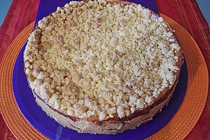 Leichter Apfelkuchen mit Vanillepudding und Streuseln 8