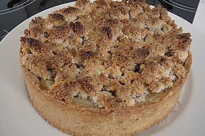 Leichter Apfelkuchen mit Vanillepudding und Streuseln 26