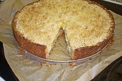 Leichter Apfelkuchen mit Vanillepudding und Streuseln 24