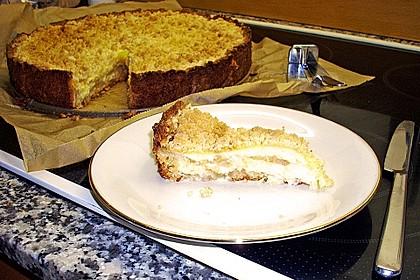 Leichter Apfelkuchen mit Vanillepudding und Streuseln 41