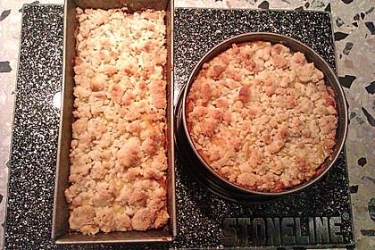 Leichter Apfelkuchen mit Vanillepudding und Streuseln 39