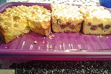 Leichter Apfelkuchen mit Vanillepudding und Streuseln 38