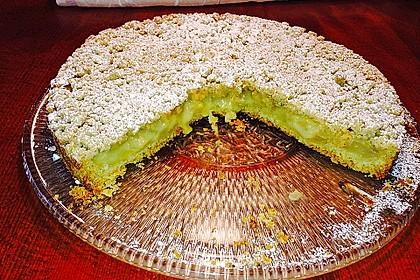 Leichter Apfelkuchen mit Vanillepudding und Streuseln 40