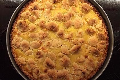 Leichter Apfelkuchen mit Vanillepudding und Streuseln 21