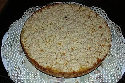 Leichter Apfelkuchen mit Vanillepudding und Streuseln 1