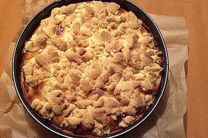 Leichter Apfelkuchen mit Vanillepudding und Streuseln 15