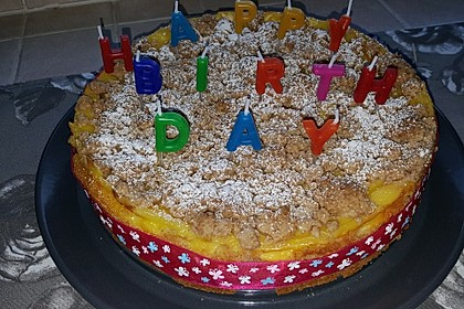 Leichter Apfelkuchen mit Vanillepudding und Streuseln 28