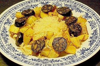 Blutwurst - Kartoffelgröstel