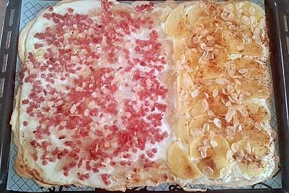 Flammkuchen Elsässer Art, süß oder herzhaft 42