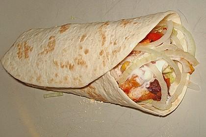 Feurige Hähnchen - Tortillas 6