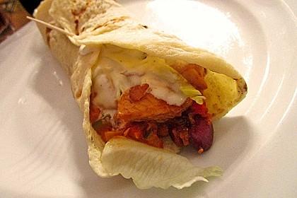 Feurige Hähnchen - Tortillas 3