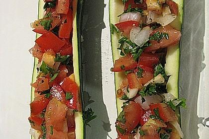 Überbackene Zucchini mit Mozzarella an Reis 2