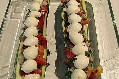 Überbackene Zucchini mit Mozzarella an Reis 3