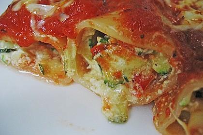 Cannelloni mit cremiger Gemüse-Käse-Füllung 8