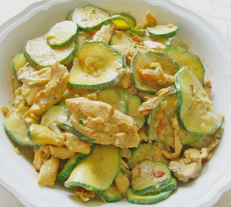 Schnelle Hähnchenbrust - Zucchini - Pfanne von schmausimausi | Chefkoch