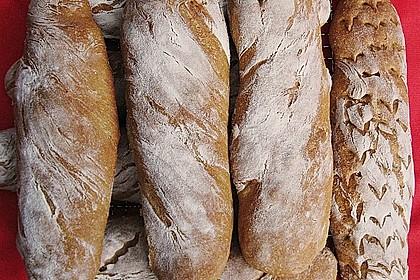 Baguette mit Sauerteig 24
