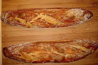 Baguette mit Sauerteig 19