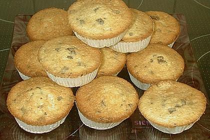 Muffins mit Kakao und Schokostückchen