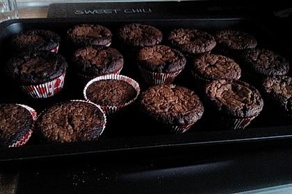 Muffins mit Kakao und Schokostückchen 3