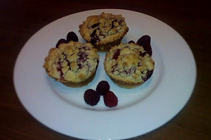 Himbeer - Muffins mit Streuseln (Bild)