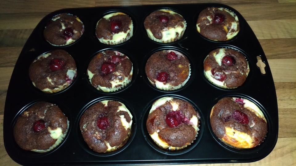 Schoko Kirsch Muffins Von Damaris16 Chefkoch De