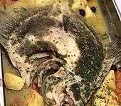 Steinbutt aus dem Rohr mit mediterranem Gemüse (Bild)