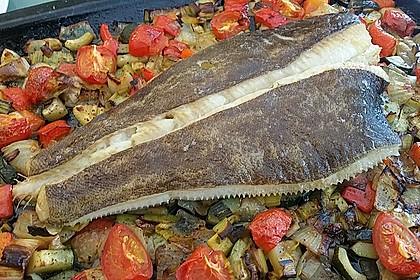 Steinbutt aus dem Rohr mit mediterranem Gemüse 1