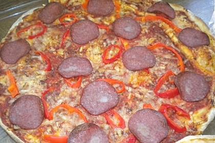 Pizza Salami mit Knoblauch 16