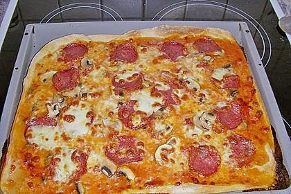 Pizza Salami mit Knoblauch 21