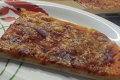 Pizza Salami mit Knoblauch 5