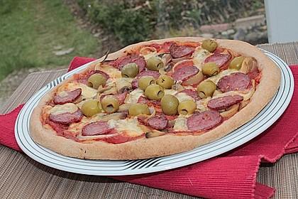 Pizza Salami mit Knoblauch 18