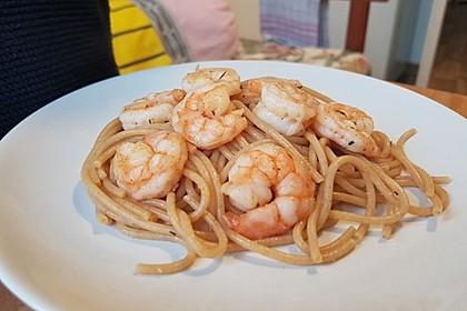 Spaghetti mit Garnelen 21