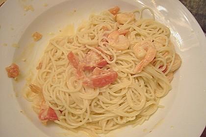 Spaghetti mit Garnelen 45