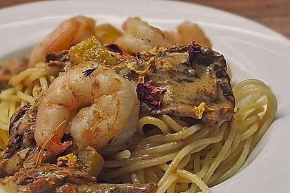 Spaghetti mit Garnelen 18
