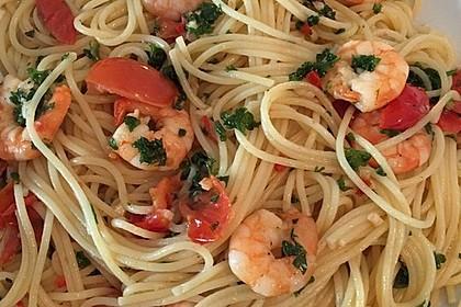 Spaghetti mit Garnelen 2