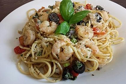 Spaghetti mit Garnelen 5