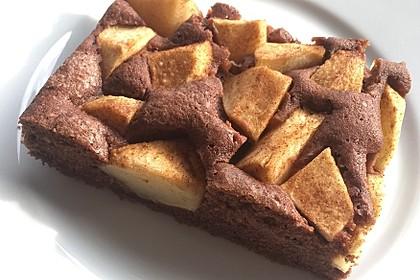Schoko - Apfel - Kuchen vom Blech (Bild)