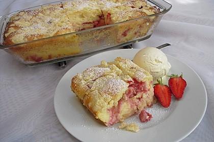 Cremiger Erdbeer - Quark - Auflauf