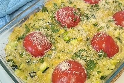 Reis - Tomaten - Gratin
