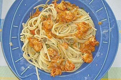 Bärlauch - Pasta mit Flusskrebsen 4