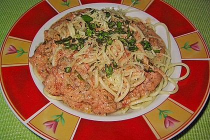 Spaghetti mit italienischer Tomatensauce 6