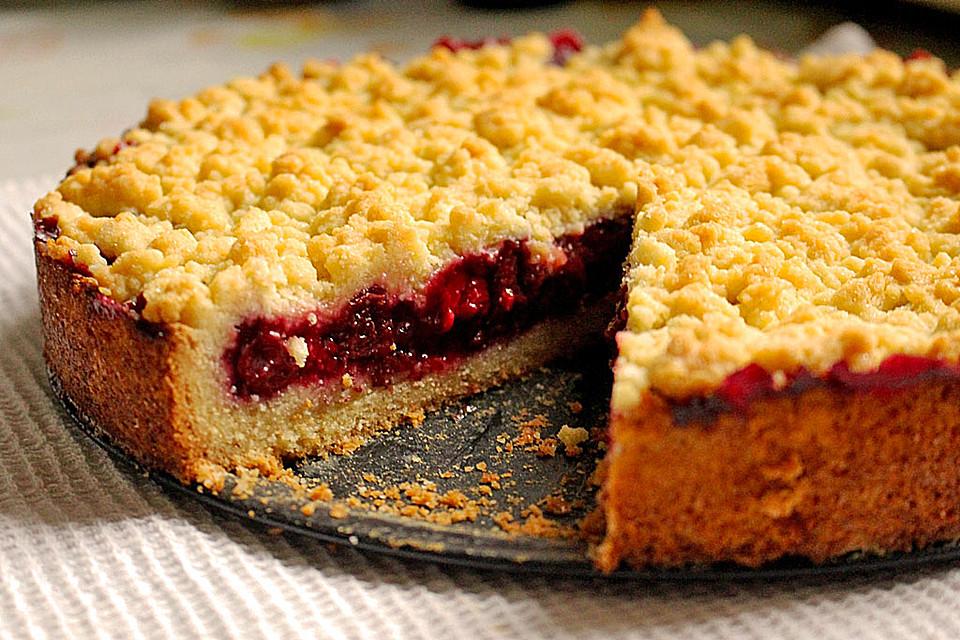 Kirsch Himbeer Kuchen Mit Kokosstreuseln Von Sandy07 Chefkoch De