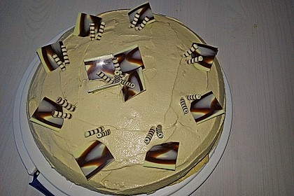 Cappuccino - Kuchen mit Cappuccino - Creme