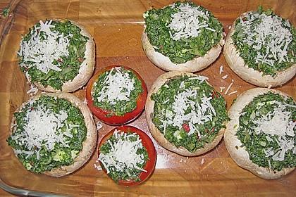 Spinat - Pilzköpfe