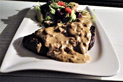 Steak in Champignon - Rahm - Sauce 3