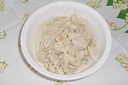 Putenbrust auf Nudeln mit Lauch - Pilzsoße 1